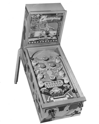 Chicago Coin Champion Pinball Machine 1949 8x10 Reprint Of Old Photo