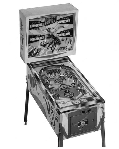 Chicago Coin Cowboy Pinball Machine 1970 8x10 Reprint Of Old Photo