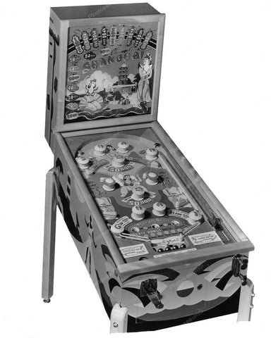 Chicago Coin Shanghai Pinball Machine 1948 8x10 Reprint Of Old Photo