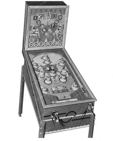 Chicago Coin Spellbound Pinball Machine 1946 8x10 Reprint Of Old Photo