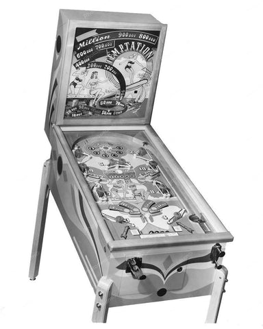 Chicago Coin Tempation Pinball Machine 1949 8x10 Reprint Of Old Photo