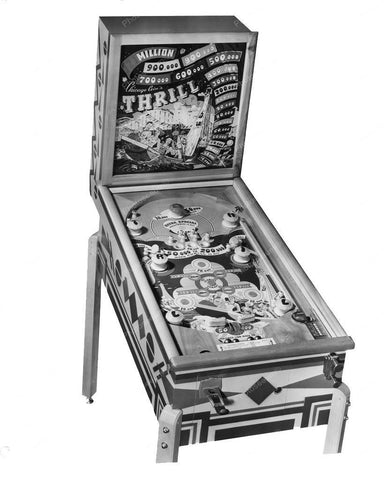Chicago Coin Thrill Pinball Machine 1948 8x10 Reprint Of Old Photo