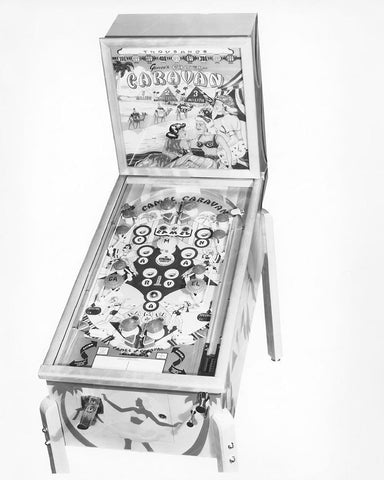 Genco Camel Caravan Pinball Machine 1949 8x10 Reprint Of Old Photo - Photoseeum