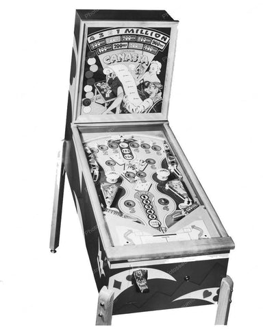 Genco Canasta Pinball Machine 1950 8x10 Reprint Of Old Photo - Photoseeum