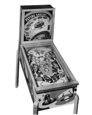 Genco Flying Saucers Pinball Machine 1950 8x10 Reprint Of Old Photo
