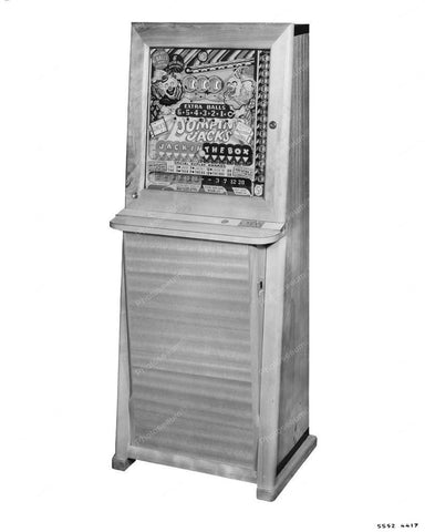 Genco Jumpin Jacks Vertical Pinball Machine 8x10 Reprint Of Old Photo