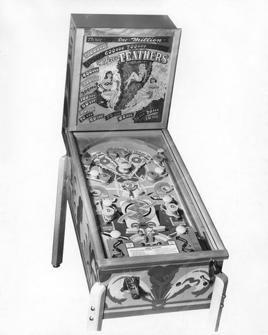 Genco Three Feathers Pinball Machine 1949 8x10 Reprint Of Old Photo