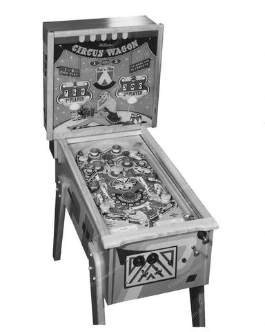 Williams Circus Wagon Pinball Machine 1955 8x10 Reprint Of Old Photo - Photoseeum