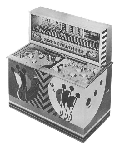 Williams Horsefeathers Pinball Machine 1952 8x10 Reprint Of Old Photo