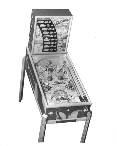 Williams Saratoga Pinball Machine 1948 8x10 Reprint Of Old Photo