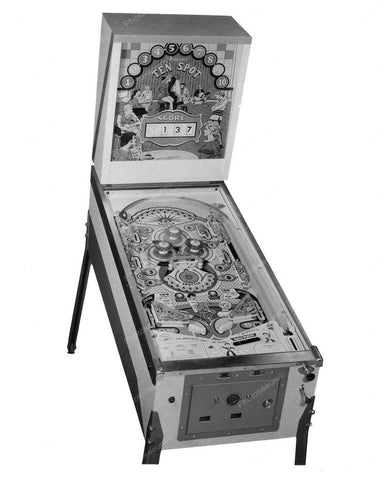 Williams Ten Spot Pinball Machine 1961 8x10 Reprint Of Old Photo