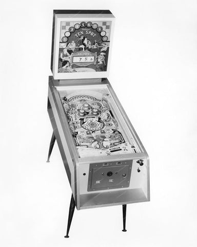 Williams Ten Spot Prototype Pinball Machine 1961 8x10 Reprint Of Old Photo