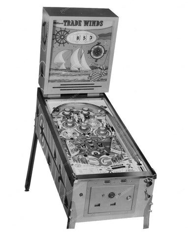 Williams Trade Wind Square Head Pinball Machine 1962 8x10 Reprint Of Old Photo