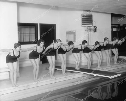 Girls Swim Team 1940s Vintage 8x10 Reprint Of Old Photo