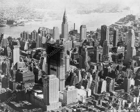 Aerial View Of New York City 1932 Vintage 8x10 Reprint Of Old Photo