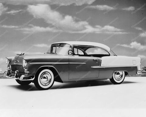 Chevrolet 1955 Bel Air Sport Auto Coup 8x10 Reprint Old Photo