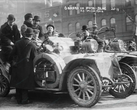 Car Antique Auto Ready For Moto Bloc Race 1908 Vintage 8x10 Reprint Of Old Photo