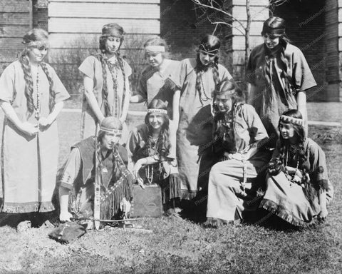 Americans Dressed Up As Indian Squaws 8x10 Reprint Of Old Photo