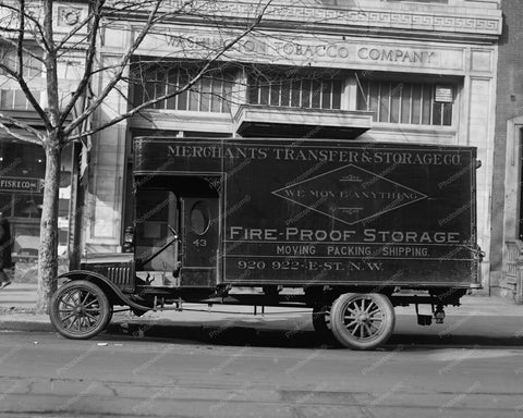 Ford Merchants Transfer Truck Vintage 8x10 Reprint Of Old Photo