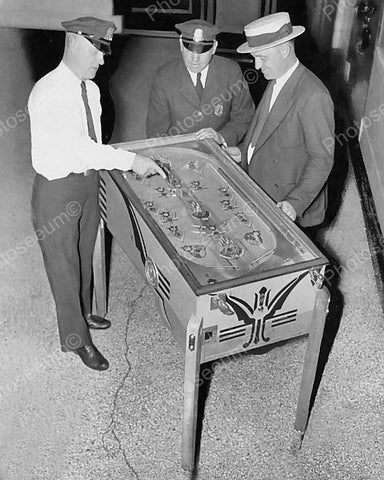 Bally Peerless Multiple Pay Out Pinball 1936 Vintage 8x10 Reprint Of Old Photo