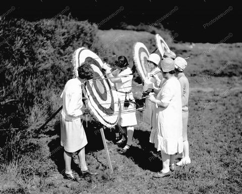 Womens Archery Contest 1928 Vintage 8x10 Reprint Of Old Photo 1