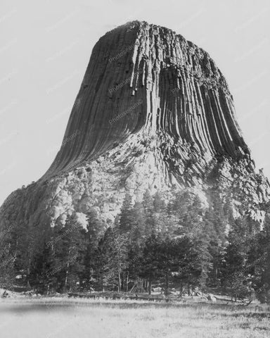The Devils Tower 1910s Old 8x10 Reprint Of Photo