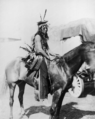 Willie Holy Frog Indian On Horse 8x10 Reprint Of Old Photo