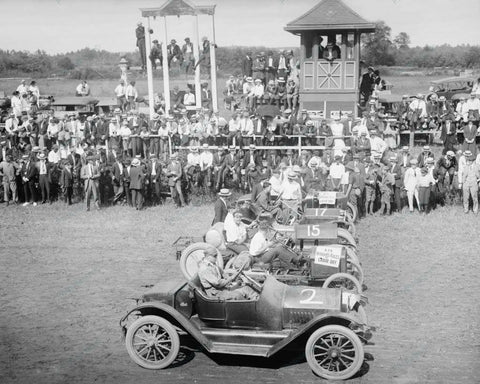 Auto Races Bennings DC 1915 Vintage 8x10 Reprint Of Old Photo