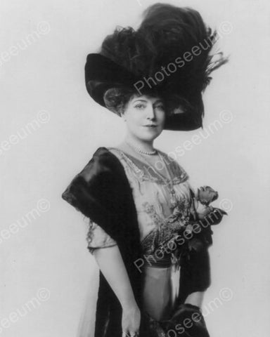 Lady In Majestic Feather Hat 1900s  8x10 Reprint Of Old Photo