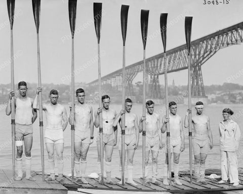 Wisconsin Rowing Team 1910 Vintage 8x10 Reprint Of Old Photo