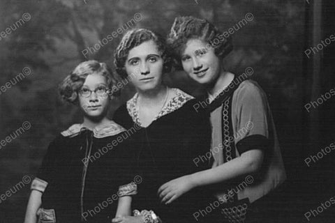 Victorian Mother & Daughters Portrait 4x6 Reprint Of Old Photo