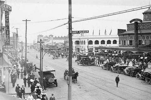 Coney Island Surf Ave Main Drag 4x6 1920s Reprint Of Old Photo