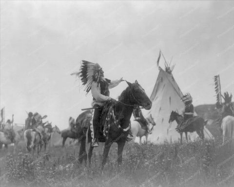 Dakota Indian Man Sitting On A Horse 8x10 Reprint Of Old Photo