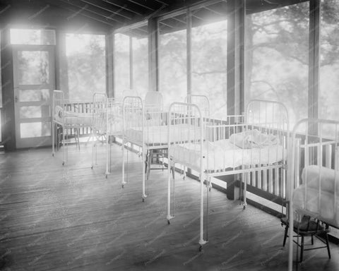 Camp Goodwill Baby Hospital  Nursery 1910s 8x10 Reprint Of Photo