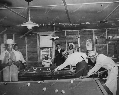 Billards Down South Playing a Game Of Pool 8x10 Reprint Of Old Photo