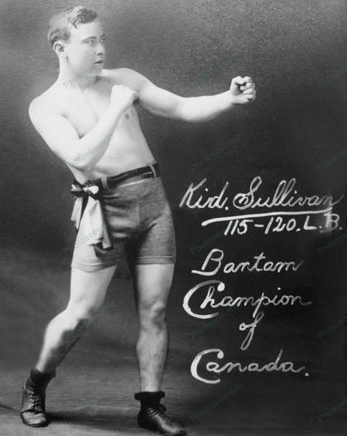 Boxing Champ Poses 1915 Vintage 8x10 Reprint Of Old Photo