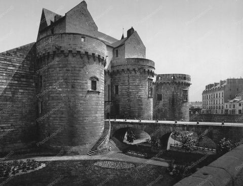 Castle Nantes Medieval France Old 8x10 Reprint Of Photo