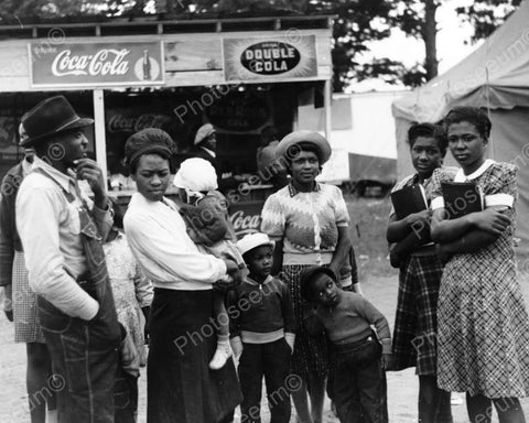 Black Family & Antique Soda Booth Signs 8x10 Reprint Of Old Photo