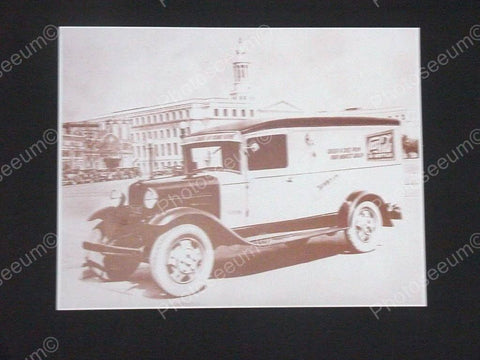 Coca Cola No 16 Delivery Truck Colorado Vintage Sepia Card Stock Photo 1930s - Photoseeum