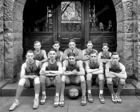 Washington DC YMCA Yankee Basketball Team 1920 Vintage 8x10 Reprint Of Old Photo