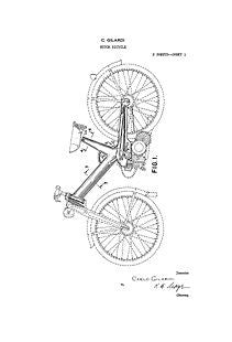 USA Patent Motor Bicycle 1950's Drawings