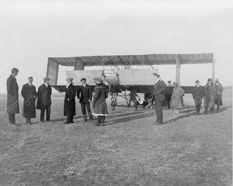 Houdini Buys Voisin Airplane In Germany 8x10 Reprint Of Old Photo