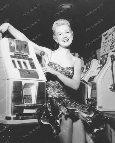 Mills Slot Machine Attendant Vintage 8x10 Reprint Of Old Photo