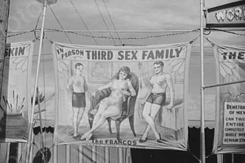 Vermont Sideshow Third Sex Family 1940s 4x6 Reprint Of Old Photo