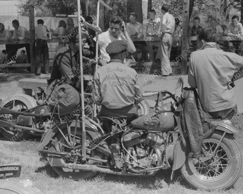 Baker Motorcycle Club Harley 1941 Vintage 8x10 Reprint Of Old Photo