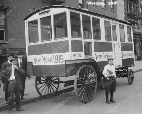 Women's Suffrage Wagon 1915 New York  8x10 Reprint Of Old Photo - Photoseeum