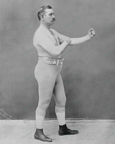 Boxer John Lawrence Sullivan 1898 Vintage 8x10 Reprint Of Old Photo - Photoseeum