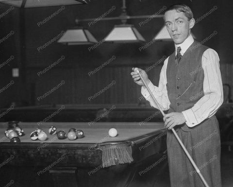 World Champ Billiard Jerome Keogh 1910 8x10 Reprint Of Old Photo 1