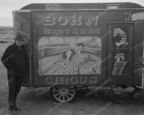 Bohn Brothers Circus Wagon 1937 Vintage 8x10 Reprint Of Old Photo