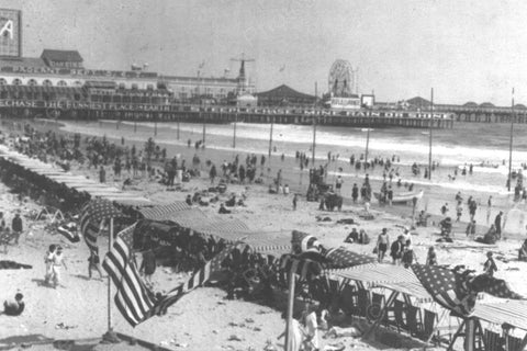 Atlantic City NJ Resort Scene 1920s 4x6 Reprint Of Old Photo